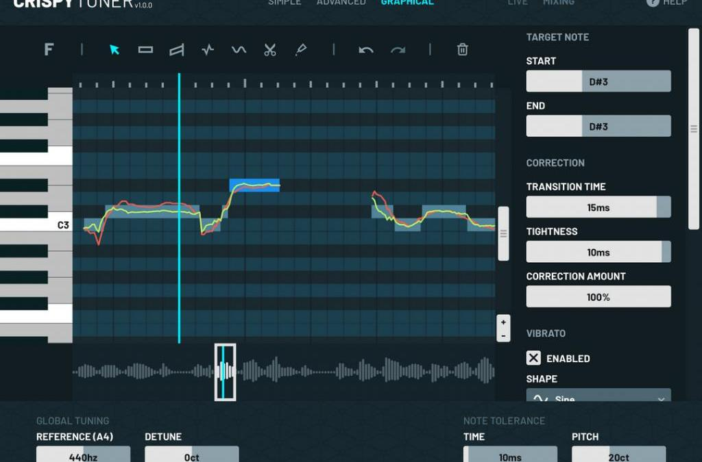 CrispyTuner is a friendly yet fully featured vocal tuning plugin