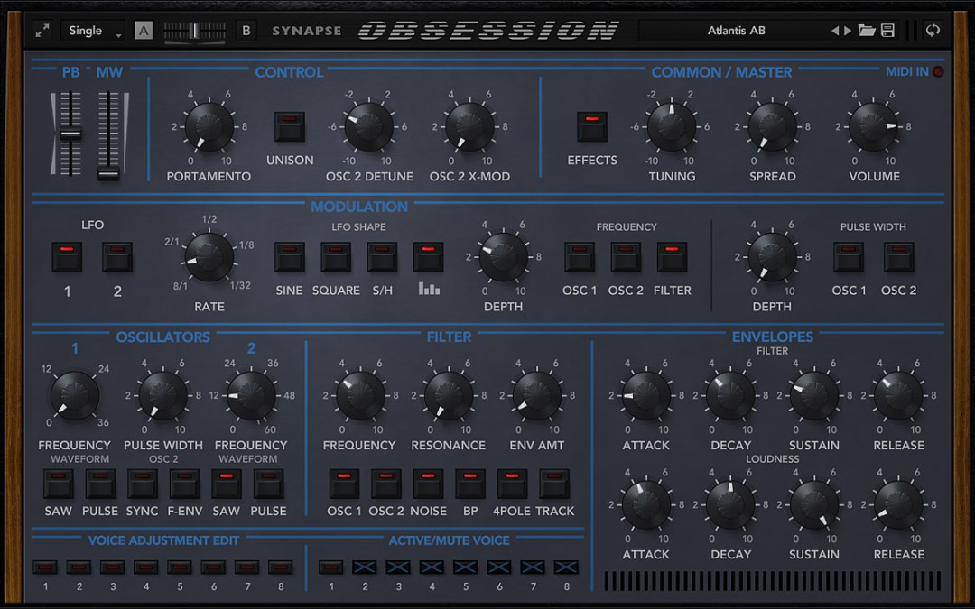 Synapse Audio Obsession evokes impressive vintage synth