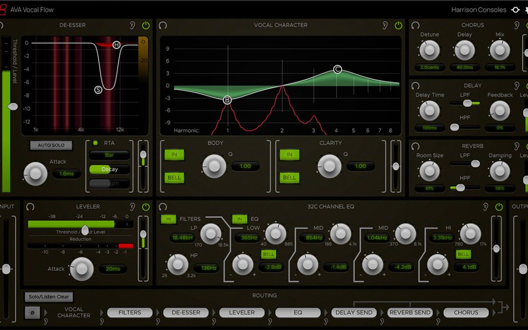 Harrison Consoles reveals AVA Vocal Flow plugin