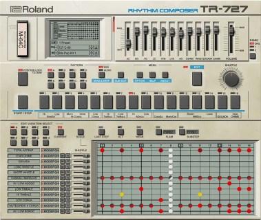 Roland TR-727 sequencer