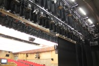 All stage lighting fixtures were installed on motorised lighting bars lifted by MACHO drum winches.