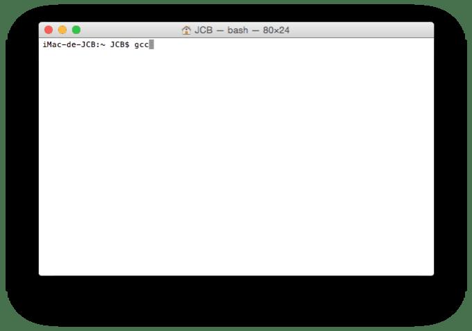 Xcode Command Line Tools Yosemite gcc compiler