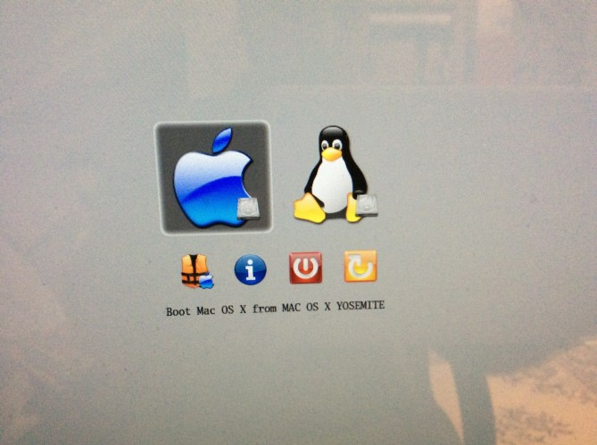 dual boot yosemite linux installation complete