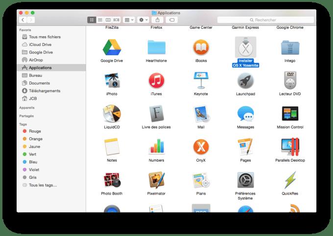 installer Yosemite sur cle USB fichier install