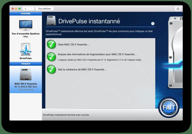 optimiser yosemite verifier disque dur