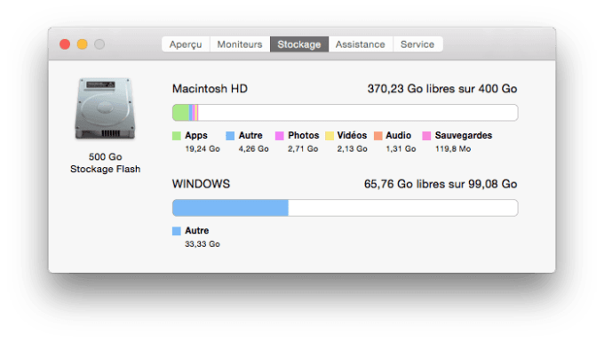 partition mac redimensionner sur macbook