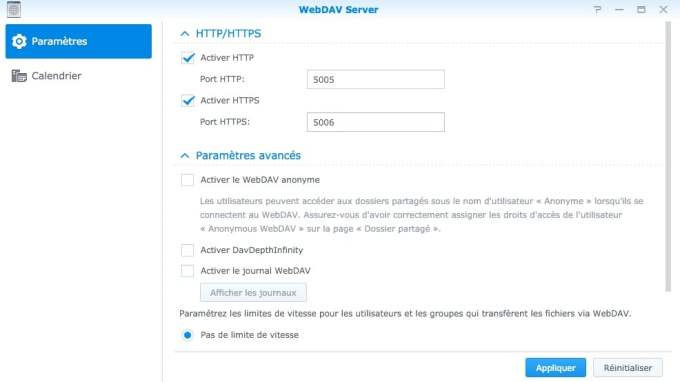 Configurer DiskStation Mac webdav server