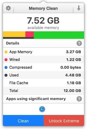 purger la ram mac os x memory clean