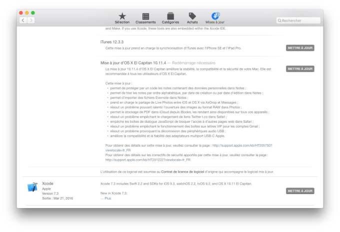 Mac OS X El Capitan 10.11.4 details