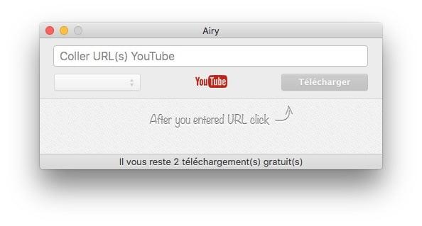 enregistrer youtube sur mac airy