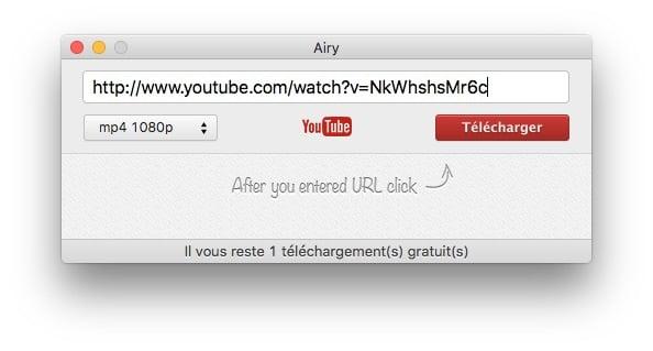 enregistrer youtube sur mac coller url