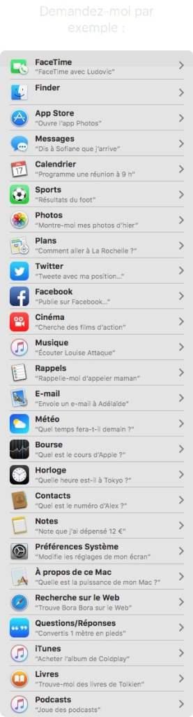 Siri MacOS Sierra resultats