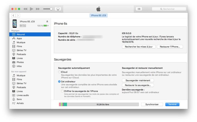 installation propre ios 10 itunes