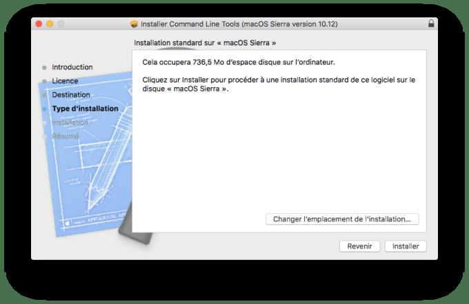 installer xcode macos sierra mac gcc