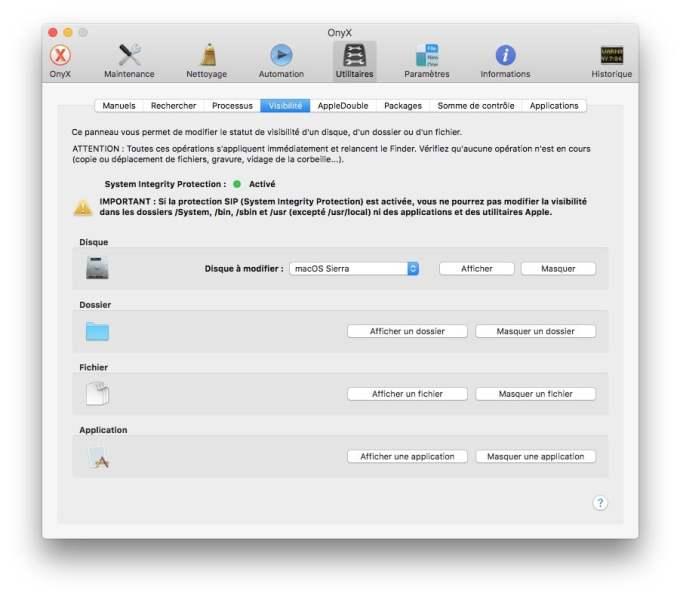 Onyx macOS Sierra SIP