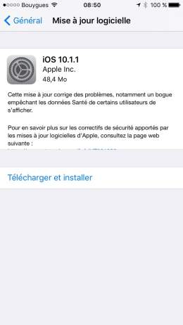 iOS 10.1.1 mise a jour iphone