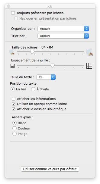 Afficher le dossier Bibliotheque sur macOS Sierra afficher le dossier bibliotheque