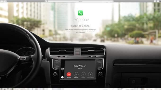 Apple Carplay telephone sms