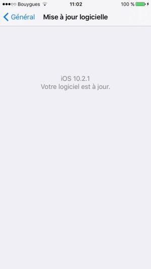 iOS 10.2.1 nouveautes