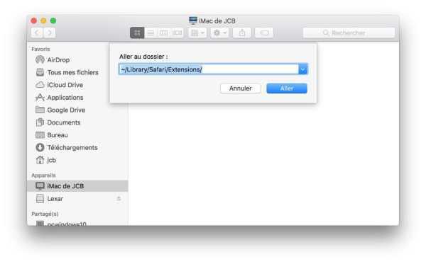 Supprimer une extension Safari mac library safari extensions
