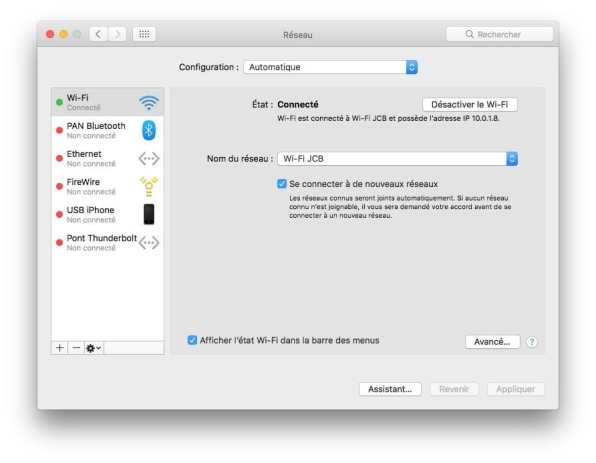 Creer un reseau entre un Mac et un PC
