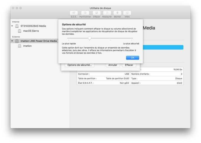 Formater son Mac en bas niveau avec utilitaire de disque