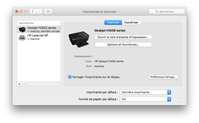 imprimer avec un iPhone imprimante installation