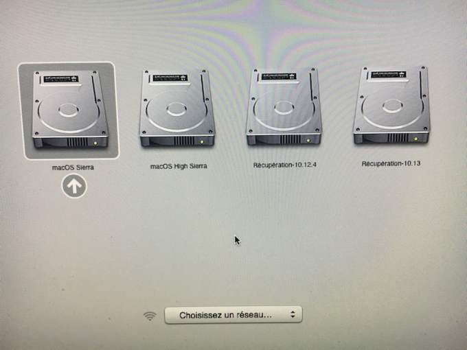 gestion boot macos high sierra