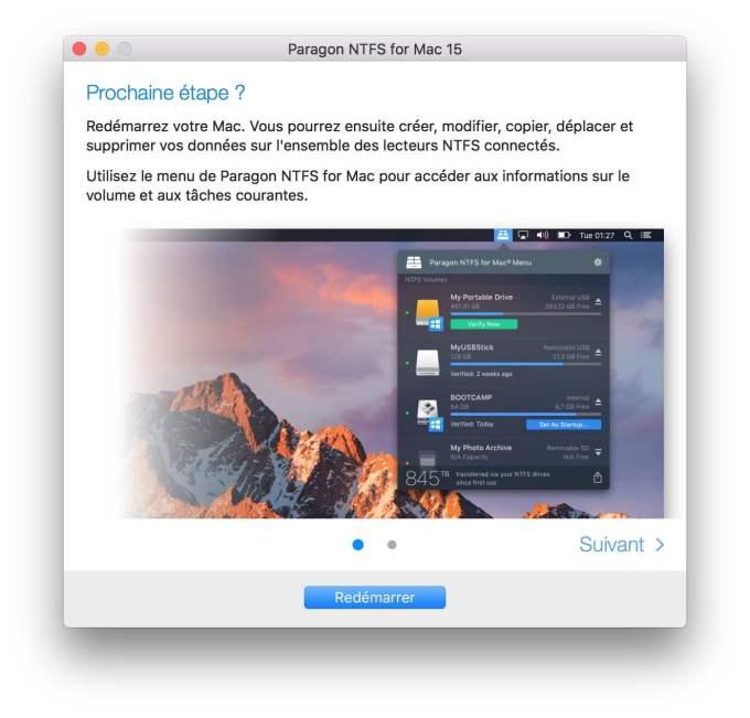 NTFS macOS High Sierra redemarrer mac