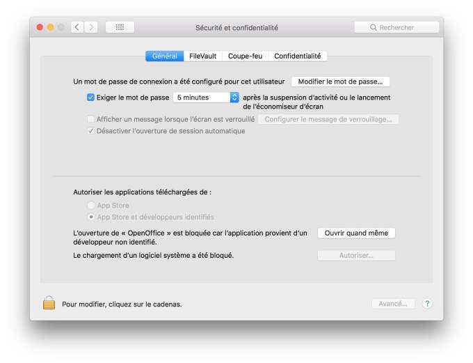 ouvrir les apps non identifiees macOS High Sierra ouvrir quand meme