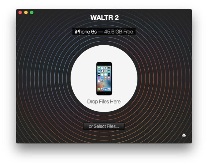 Copier une video sur un iPhone drop files
