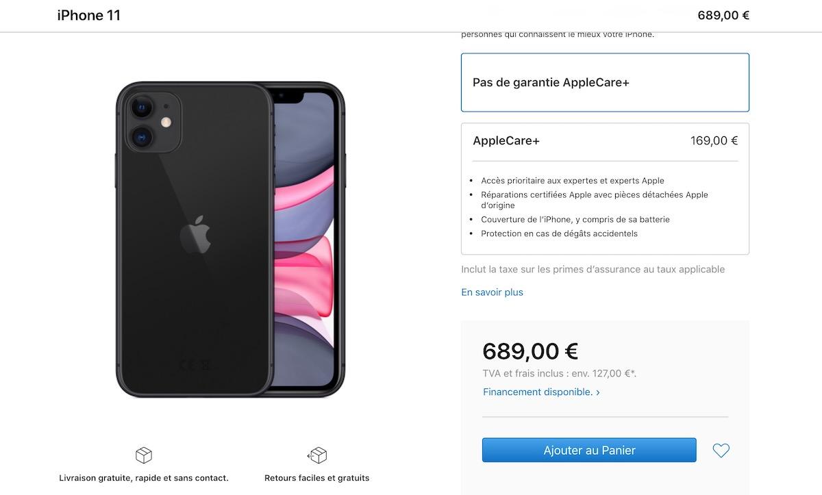 Toujours commercialisé. l'iPhone 11 baisse ses prix sur l'Apple Store