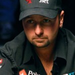 Daniel Negreanu concentrating hard in a poker hand.