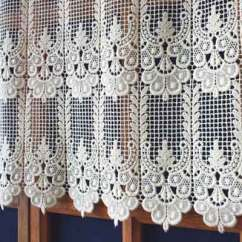 French Lace Kitchen Curtains Contractors Macrame Cafe Laace Curtain Annie