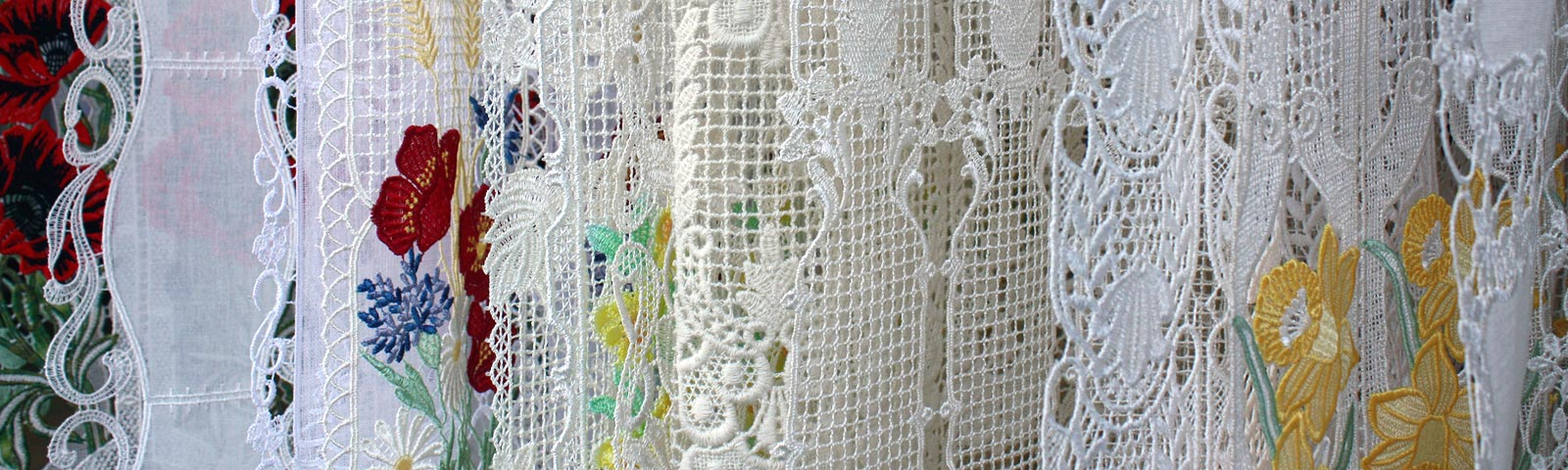 french lace kitchen curtains frigidaire package macrame cafe