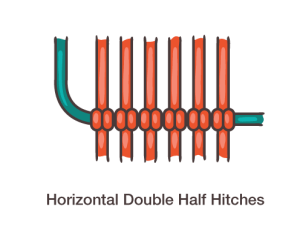 Horizontal Double Half Hitch