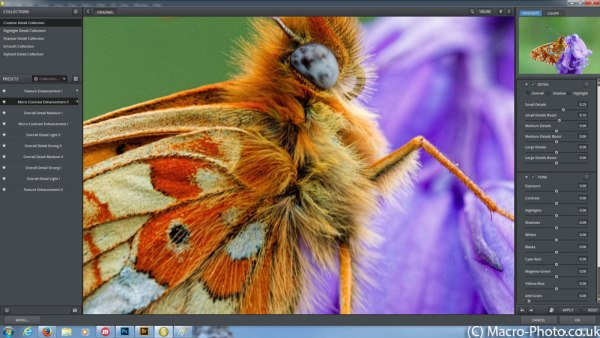 100% Zoom and Sliders in Topaz Detail