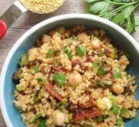WHOLE GRAINS:  Millet and Chickpeas Salad
