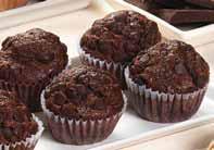 Mini muffin de chocolate con chips de chocolate