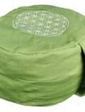 Cuscino Ovale Verde Fiore della Vita