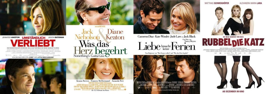 Romantic Comedy - Titel Text in der Mitte