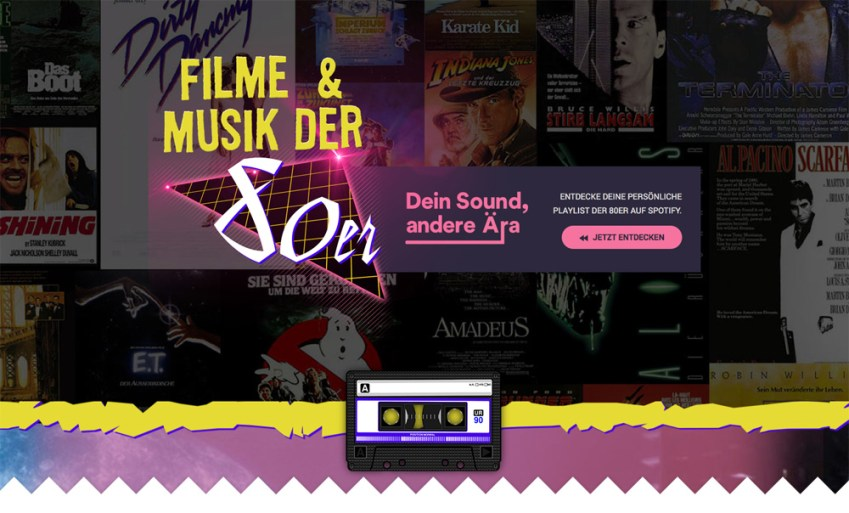 Fillmstarts Spotify - Dein Sound, andere Ära