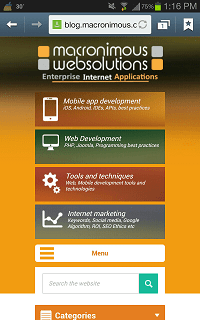 Mobile browser view