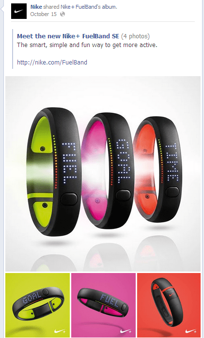 Nike Fuel Bank in FB