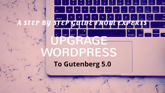 Upgrade WordPress Gutenberg