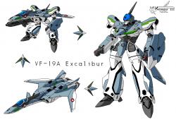 VF19A Excalibur  Macross New Horizon