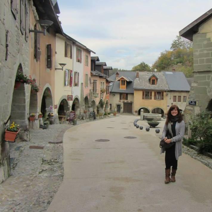 Rachel in Haute-Savoie, France.