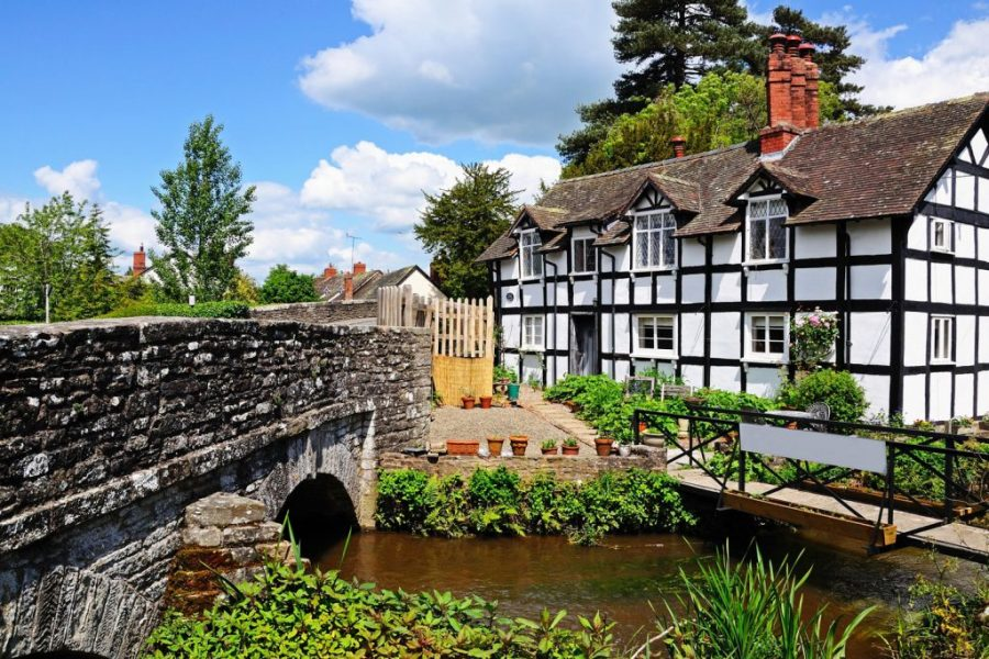 A typical Wye Valley scene, Herefordshire.