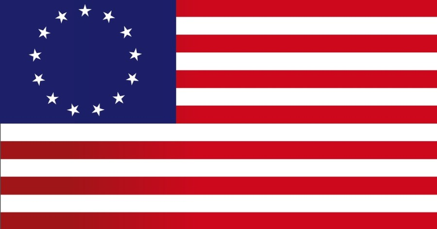 The original american flag, with 13 stars in a circle