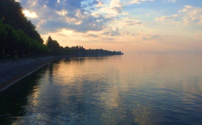 Lake constance at sun set